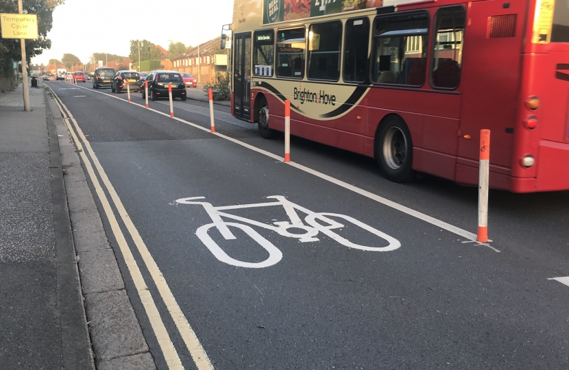 Traffic congestion and empty cycle lanes...
